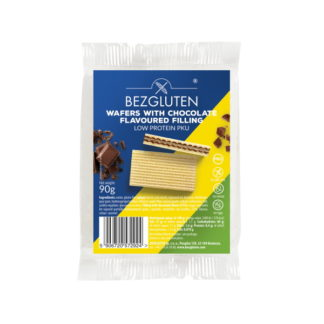 Bezgluten - Eiweißarme Waffeln mit Schokoladenfüllung