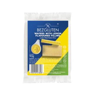 Bezgluten - Gaufres faibles en protéines garnies de citron