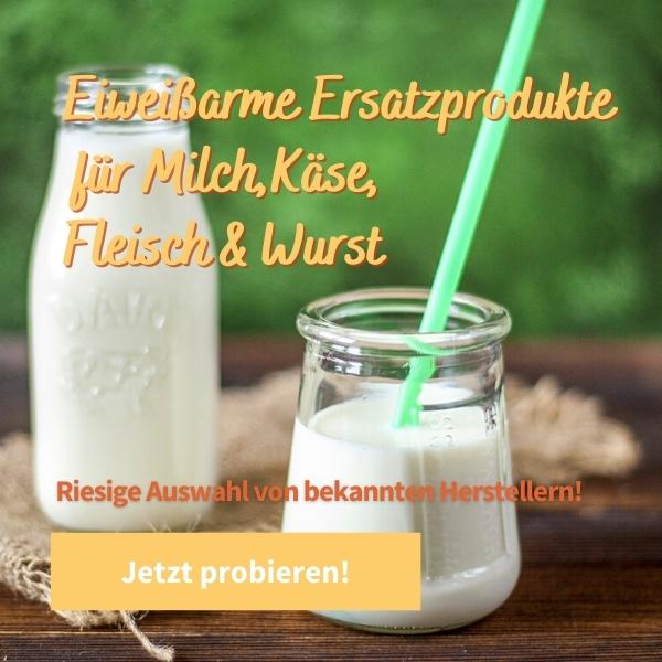 Eiweißarme Ersatzprodukte für Milch, Käse, Fleisch, Wurst & mehr kaufen - Eiweißarme Lebensmittel kaufen