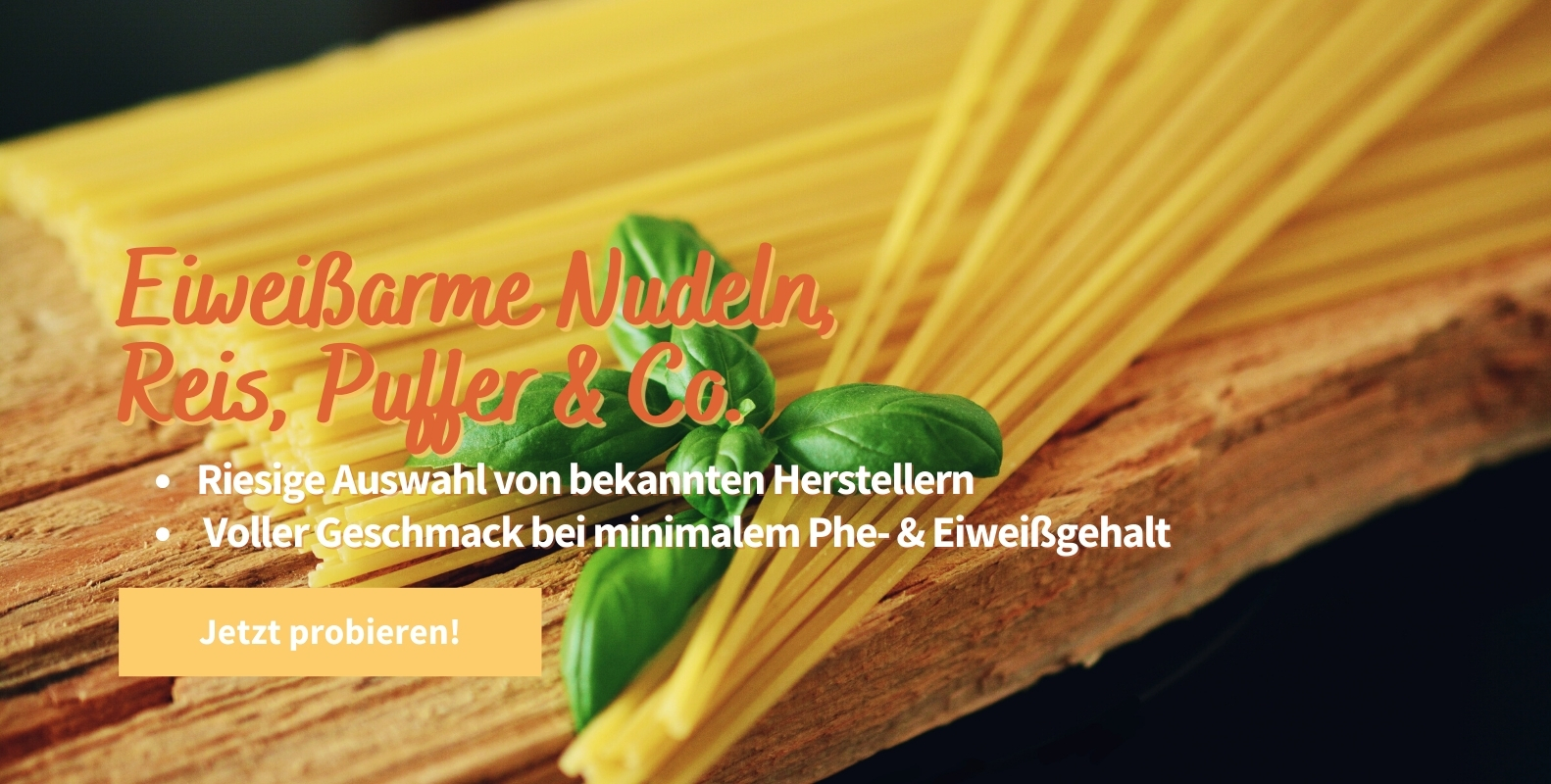 Eiweißarme Nudeln, Reis, Puffer & Co. - Eiweißarme Lebensmittel kaufen