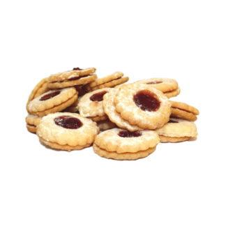 Biscuits à la confiture hypoprotidiques
