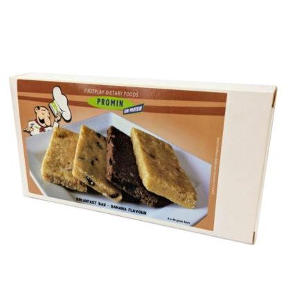 Promin - Eiweißarme Frühstücksriegel - Banane - in der Verpackung